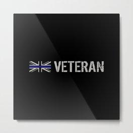 British Police Veteran Metal Print