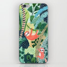 Jungle Sloth Family iPhone Skin