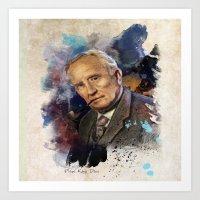 tolkien Art Prints featuring J.R.R. Tolkien by Philipe Kling