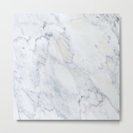 Luxury Gray Marble Metal Print