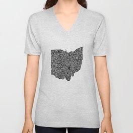 Typographic Ohio Unisex V-Neck