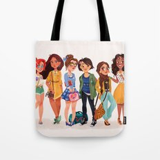 MODERN AU: Princesses Tote Bag