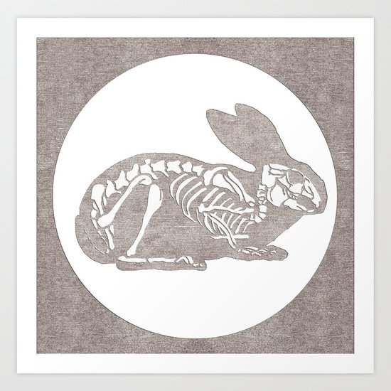 In which a rabbits anatomy is observable  Art Print