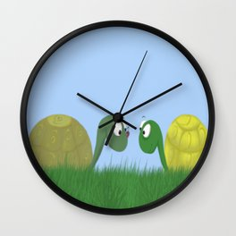 Ellie and Ollie, and Their New Friend Wall Clock