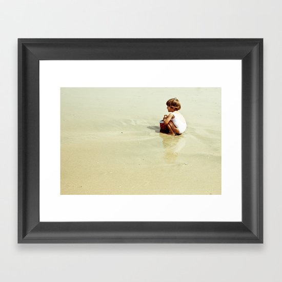 Found in the sea Framed Art Print