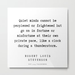 13   | Robert Louis Stevenson Quotes | 200113 Metal Print