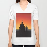 italy V-neck T-shirts featuring Italy by Nove Studio