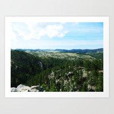 The Landscape Has Hills Art Print