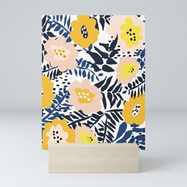 Outdoor: florals matching to design for a happy life Mini Art Print