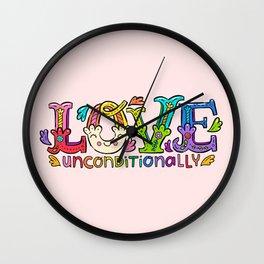 Love Unconditionally Wall Clock