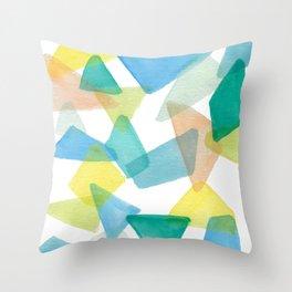 Boys Play Translucent Triangles Throw Pillow