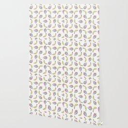 Fun Memphis Strawberry Banana Pattern, Seamless Vector Background Illustration Wallpaper