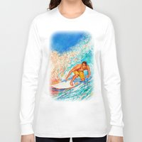 surfer Long Sleeve T-shirts featuring Surfer by LiliyaChernaya