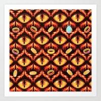 Smaug's Lair Pattern Art Print