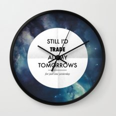 Just One Yesterday Wall Clock