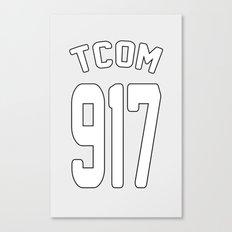 TCOM 917 AREA CODE JERSEY Canvas Print