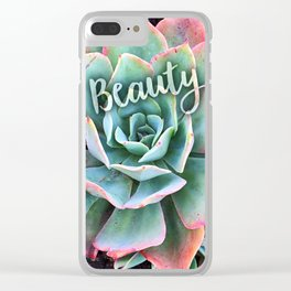 Cactus close-up photo   Beauty Clear iPhone Case