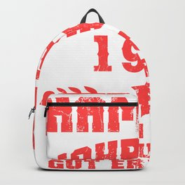 Lustiges Geburtstagsgeschenk für den runden Geburtstag Birthday  Backpack