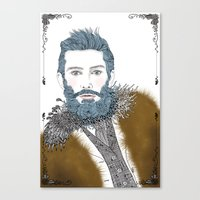 beard Canvas Prints featuring beard by katiwo