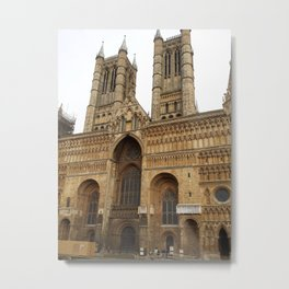 Lincoln Cathedral, England Metal Print