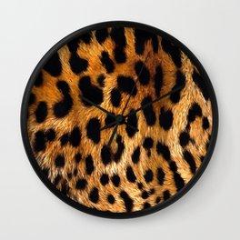 Vegan Leopard Skin Animal Fur Design Wall Clock