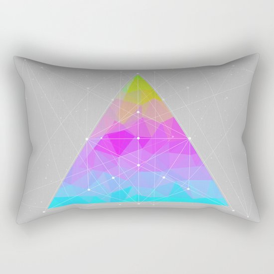 The Dots Will Somehow Connect (Geometric Pyramid) Rectangular Pillow