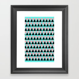 Electric Triangle  Framed Art Print