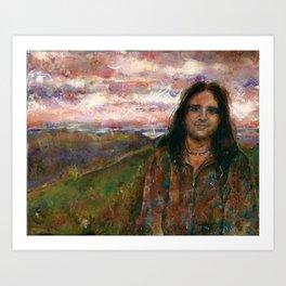 Jackson Redcloud Art Print