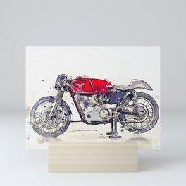 1960 Matchless G Race 3 watercolor by Ahmet Asar Mini Art Print