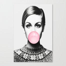 Twiggy Bubble Gum Canvas Print Canvas Print