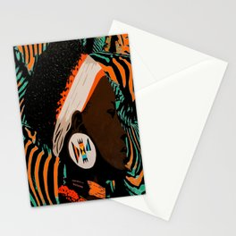 Zulu girl with zebraprint Stationery Cards