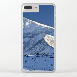 Snowy mountains. 3.478 meters Clear iPhone Case