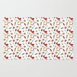Grilling - BBQ Doodle Pattern Rug