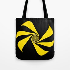 Abstract. Yellow Ribbon. Tote Bag