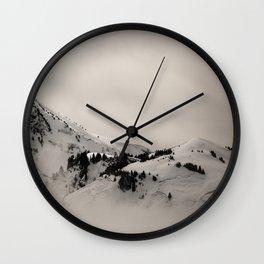 Felt Mountain Wall Clock