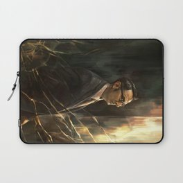 The Abyss Gazes Back Laptop Sleeve