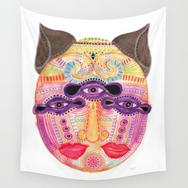 watch my lips mask Wall Tapestry