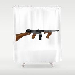 Tommy Gun Shower Curtain