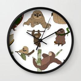 Sloth Party Wall Clock