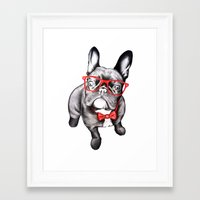dog Framed Art Prints featuring Happy Dog by 13 Styx
