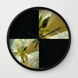 Pale Yellow Poinsettia 1 Blank Q2F0 Wall Clock