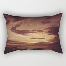 SUNSET AT THE MOUTH OF THE COLUMBIA RIVER, BETWEEN ASTORIA OREGON AND THE STATE OF WASHINGTON NARA Rectangular Pillow