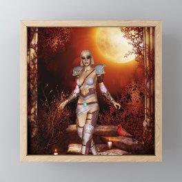 Fantasy women in the night Framed Mini Art Print