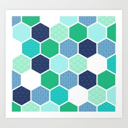 Galactic Hexagons 1 Art Print