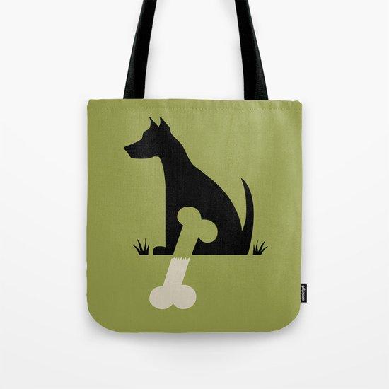 Gave a Dog a Bone (Green) Tote Bag
