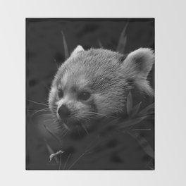 Awesome B&W red Panda Throw Blanket