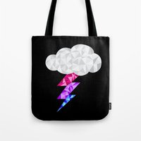 bisexual Tote Bags featuring Bisexual Storm Cloud by Casira Copes