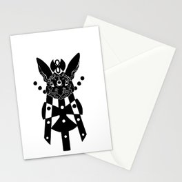 the mothership (black on white) Stationery Cards