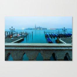 Gondolas and San Giorgio Church, Venice Canvas Print