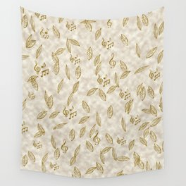 Abstract Gold Fall Foliage Symphony Wall Tapestry